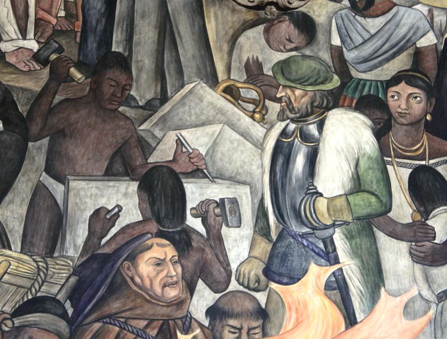 12 del patíbulo de 1492 ¿Cómo blanquear la leyenda negra - Diego-Rivera.-Esclavos-indios.