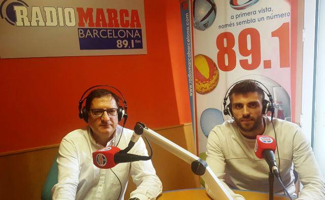 David López, jugador del RCD Espanyol, ha pasado hoy por los micrófonos de T-4 en Radio Marca