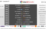 Horarios de la jornada 37 de #LaLiga Santander