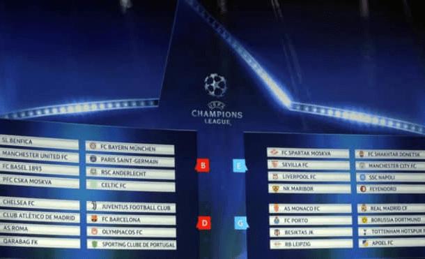 Conoce el calendario de la fase de grupos de la Champions