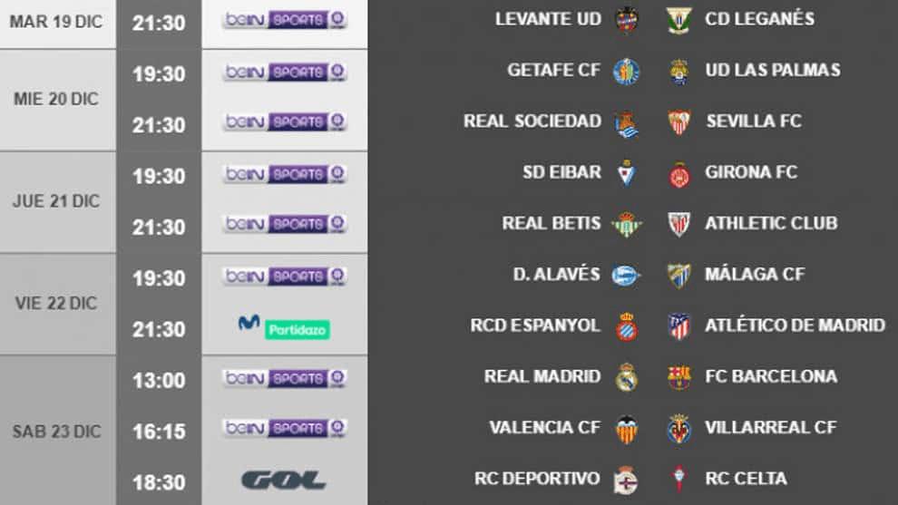Ya es oficial que el Real Madrid-Barça se juega el día 23 a las 13:00 horas