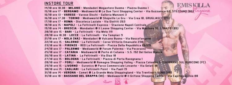 Instore tour di Emis Killa: le date in sicilia