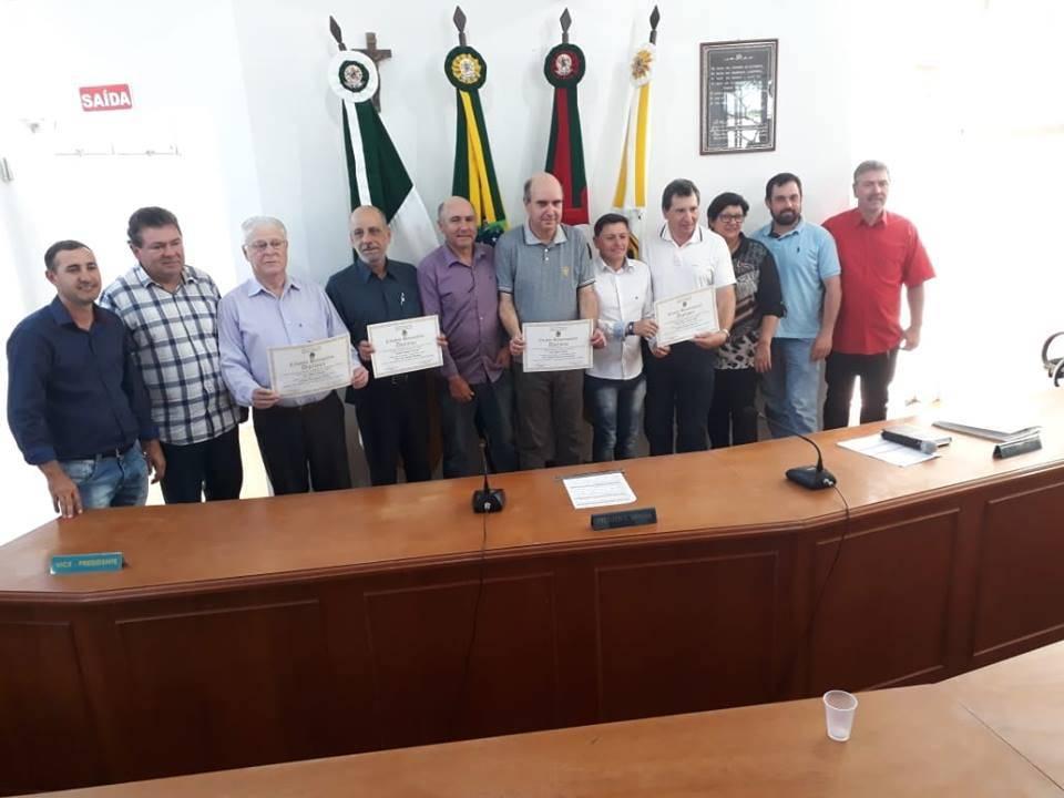 Cidadãos foram homenageados em Bossoroca