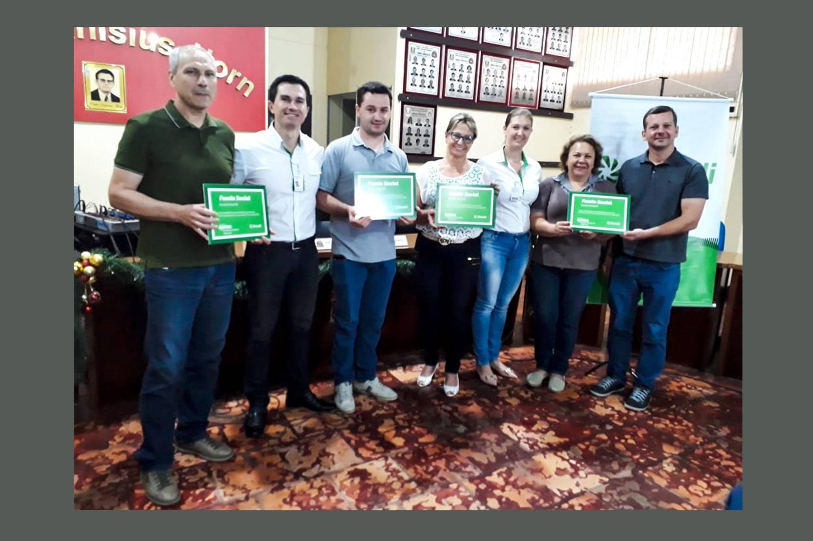 Entidades de Roque são contempladas com Fundo Social do Sicredi