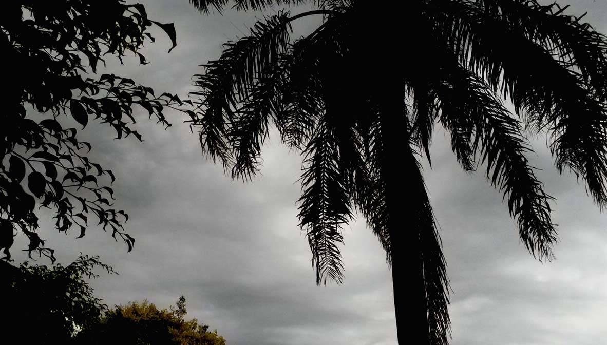Tempo nublado nesta manhã, chuvas irregulares podem acontecer