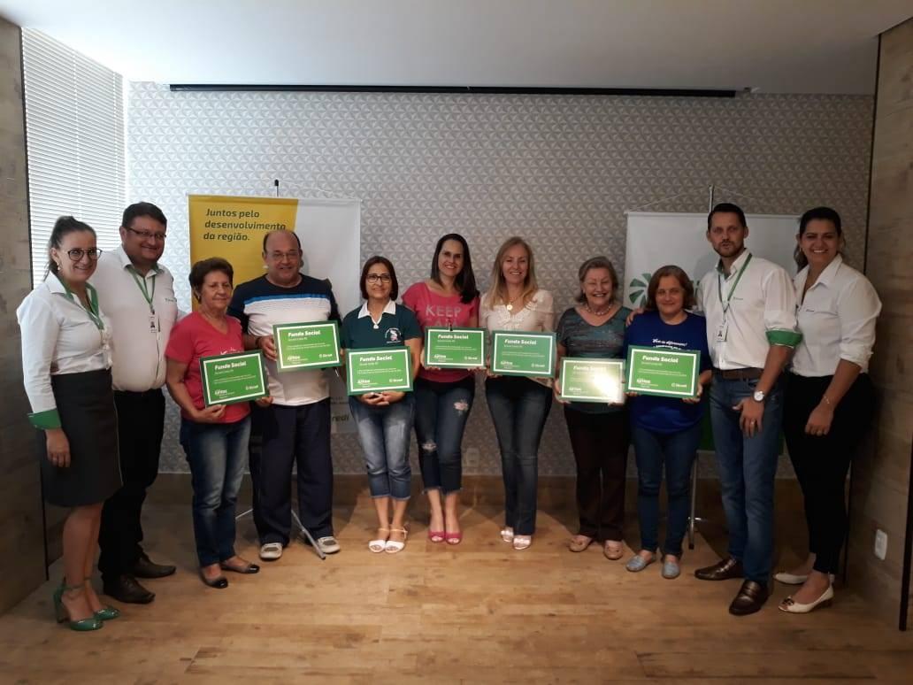 Sicredi de São Luiz Gonzaga divulgou as entidades que receberão recursos do Fundo Social