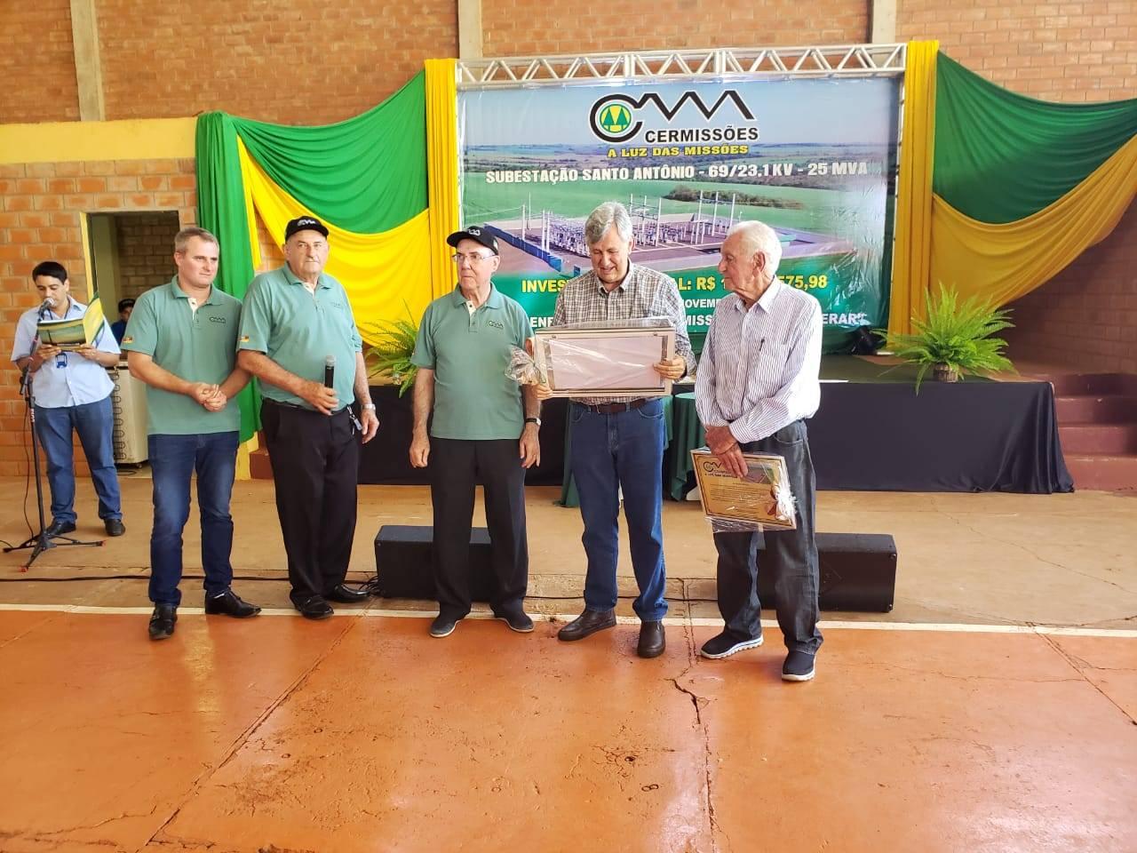Alceu da Silva Braga foi homenageado em evento da Cermissões