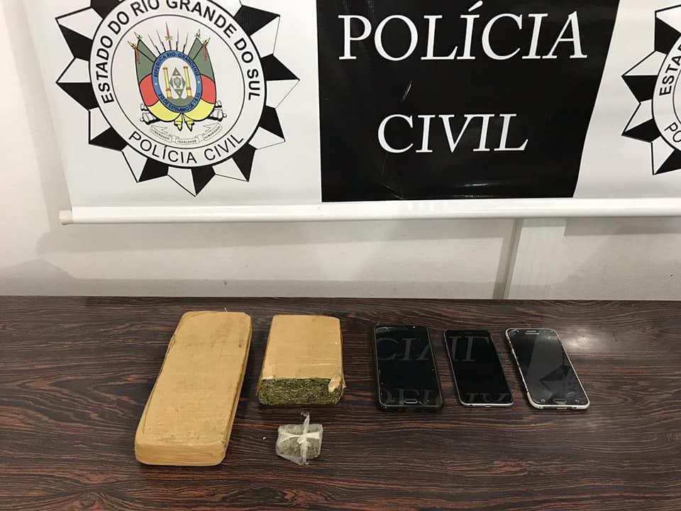 Porto Xavier: Polícia Civil apreende um quilo de maconha na casa de investigado