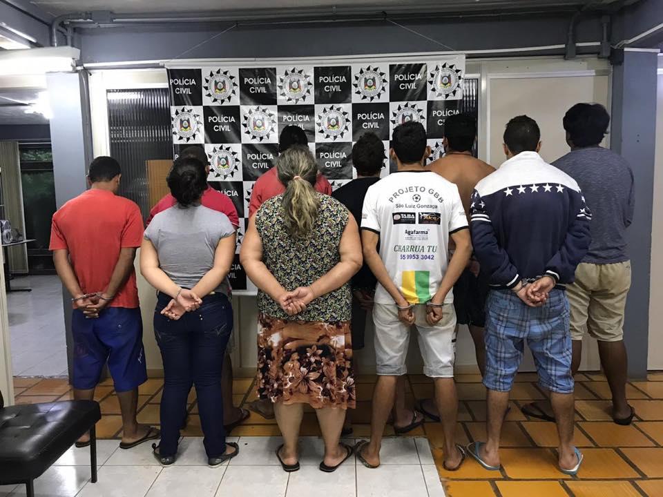 Criminosos de São Luiz Gonzaga ligados à facção de Porto Alegre são presos
