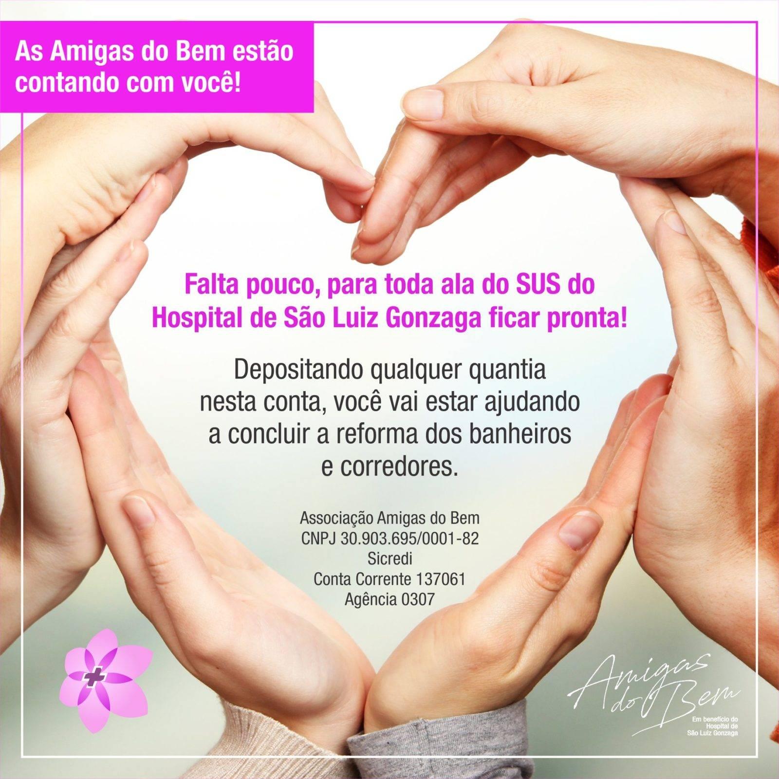 Amigas do Bem intensificam campanha por melhorias na área do SUS do Hospital São Luiz Gonzaga