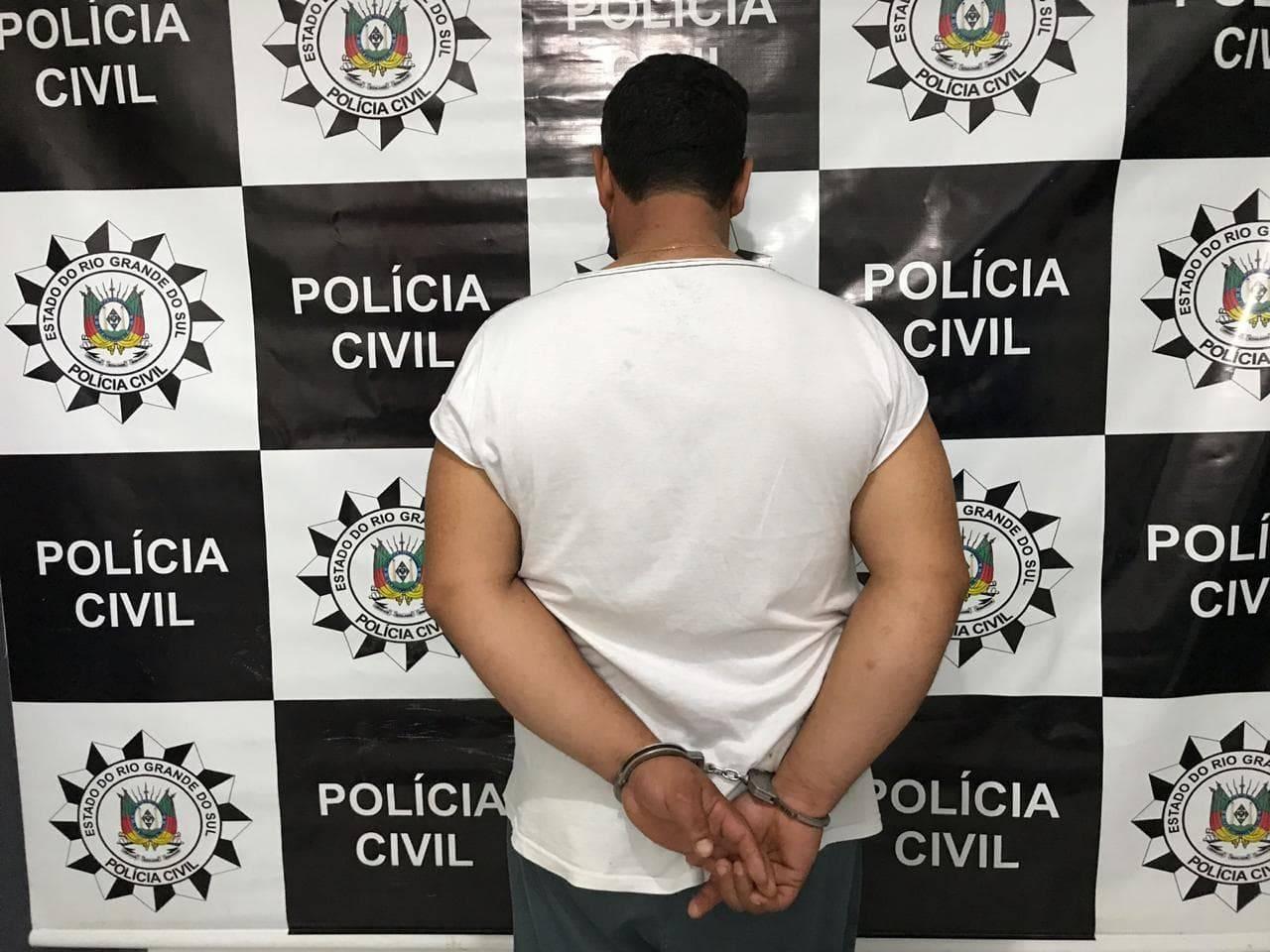 Policia Civil prendeu suspeito de assalto em Roque Gonzales