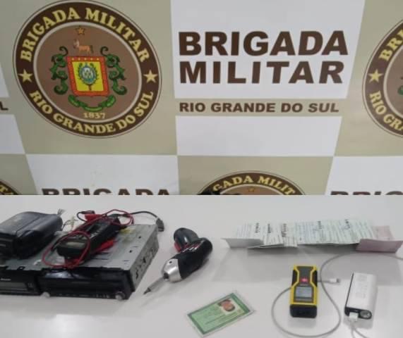 Brigada Militar prende três homens por crime de receptação em Porto Xavier