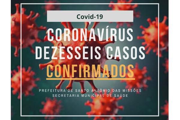 Confirmados mais dois casos de Covid-19 em Santo Antônio das Missões