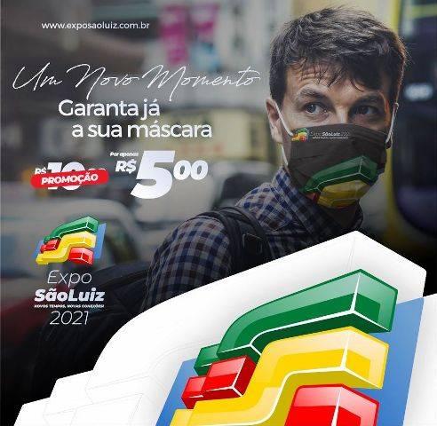 Adquira sua máscara facial da Expo São Luiz e proteja-se do coronavírus