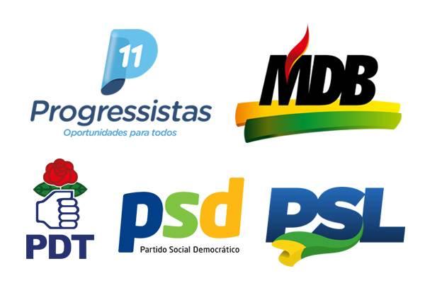 Partidos da coligação PP/MDB/PSD/PDT/PSL realizam suas convenções nos próximos dias