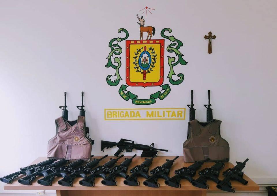 14º BPM recebe armamento do Comando Regional de Polícia Ostensiva Missões