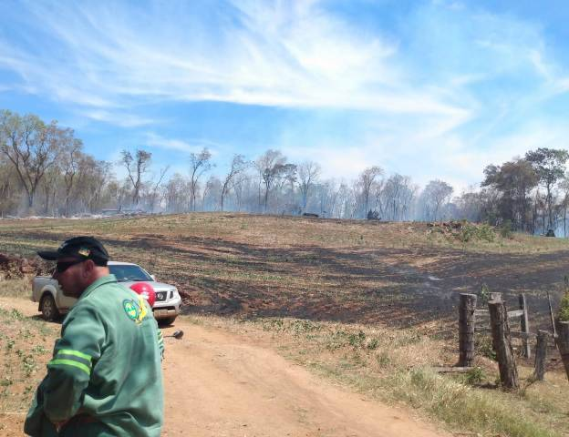 Incêndio em vegetação atinge uma grande área no interior de São Paulo das Missões