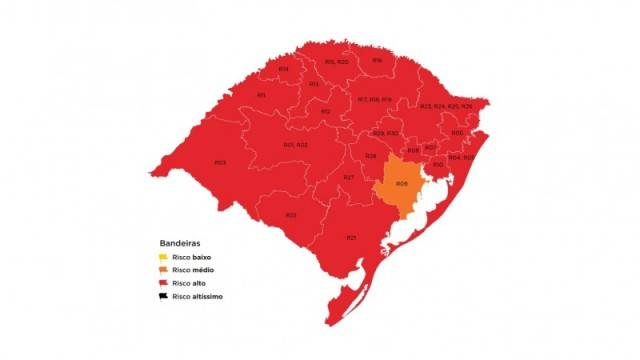 Bandeira vermelha predomina no mapa preliminar da 33ª semana do Distanciamento Controlado