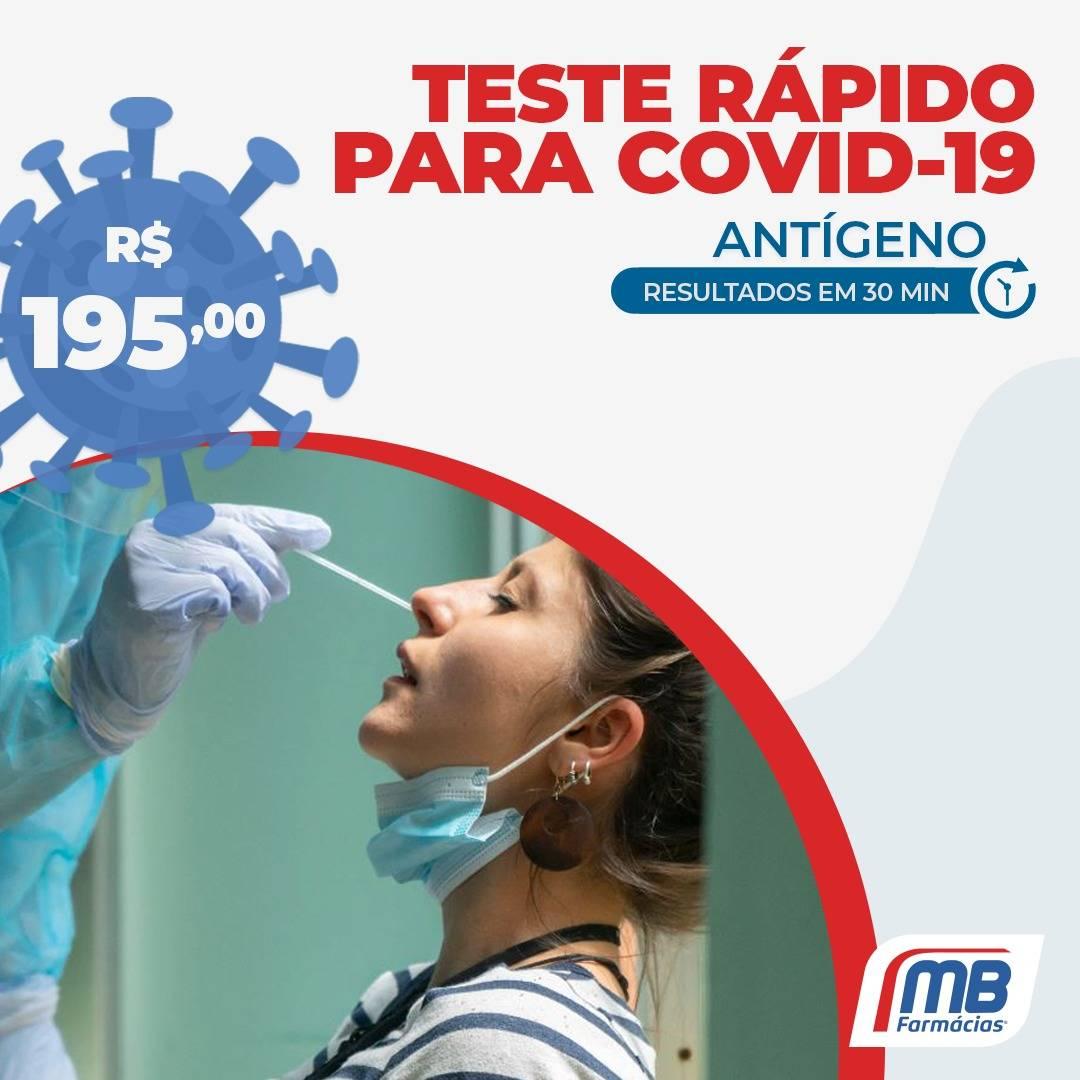 MB Farmácias passa a oferecer teste rápido para covid-19