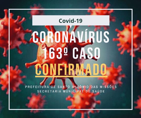 Confirmados mais dois casos de coronavírus em Santo Antônio das Missões