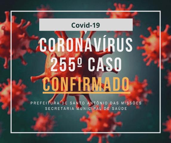Santo Antônio das Missões registra mais uma morte e 8 novos casos de pessoas infectadas por Covid-19