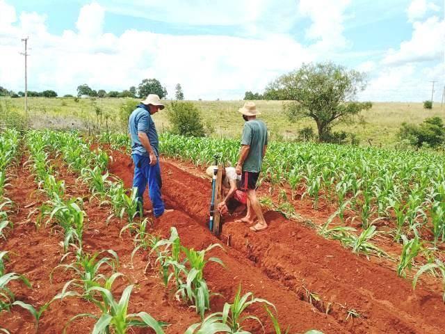 Instalação de sistema de irrigação é concluída no interior de Santo Antônio das Missões