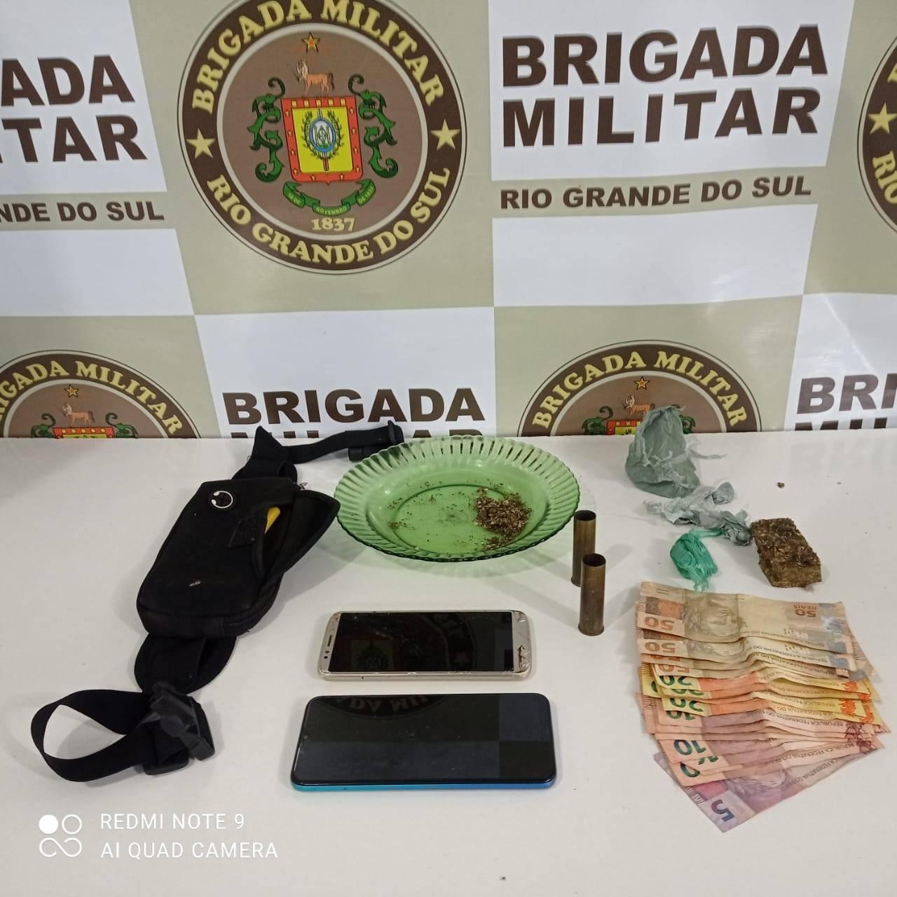 Brigada Militar de São Luiz Gonzaga prende por tráfico de entorpecente