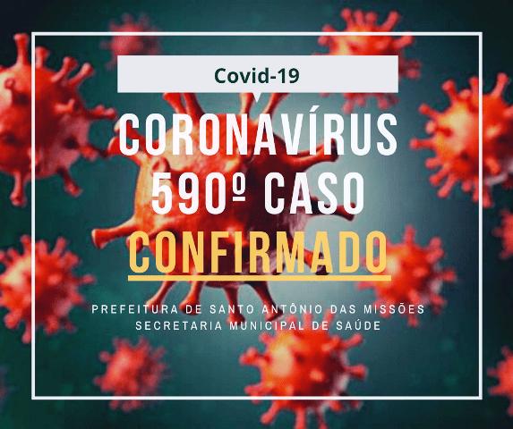 Boletim Epidemiológico desta segunda-feira registra mais casos de coronavírus em Santo Antônio das Missões