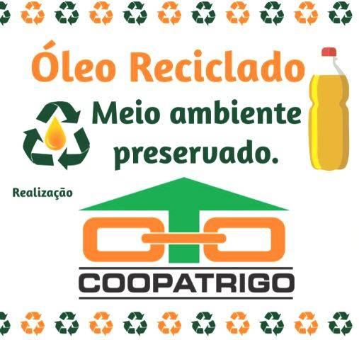 """Coopatrigo lança Campanha """"Óleo Reciclado, Meio Ambiente Preservado"""""""