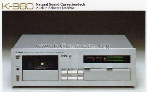 Natural Sound Stereo Cassette Deck K-960 R-Player Yamaha Co.