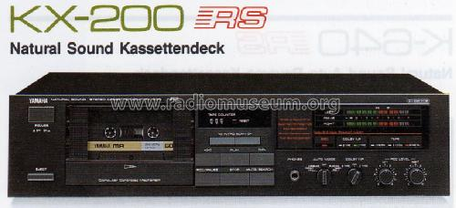 Natural Sound Stereo Cassette Deck KX-200 R-Player Yamaha Co