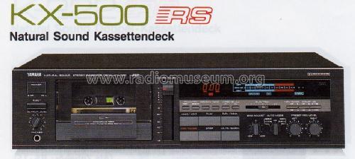 Natural Sound Stereo Cassette Deck KX-500U R-Player Yamaha C