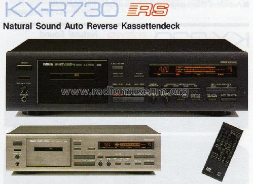 Yamaha Natural Sound Stereo Cassette Deck KX-R730 - Yamaha ...