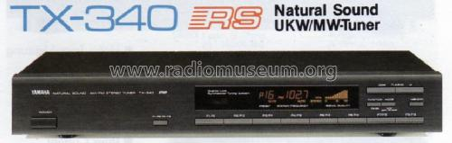 Natural Sound AM/FM Stereo Tuner TX-340 Radio Yamaha Co.;