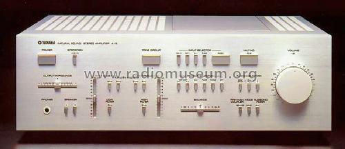 Natural Sound Stereo Amplifier A-9 Ampl/Mixer Yamaha Co.;