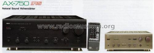 Natural Sound Stereo Amplifier AX-750 Ampl/Mixer Yamaha Co.;