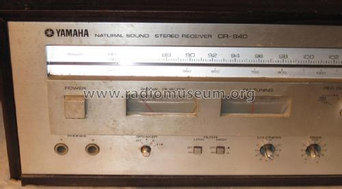 Natural Sound Stereo Receiver CR-840 Radio Yamaha Co.;