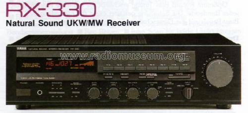 Natural Sound Stereo Receiver RX-330 Radio Yamaha Co.;