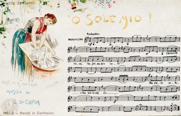 Cartolina musicale di O sole mio