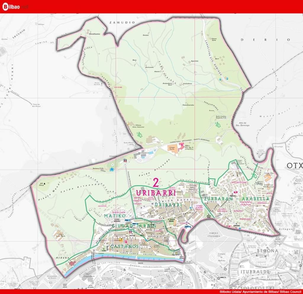 Mapa Uribarri