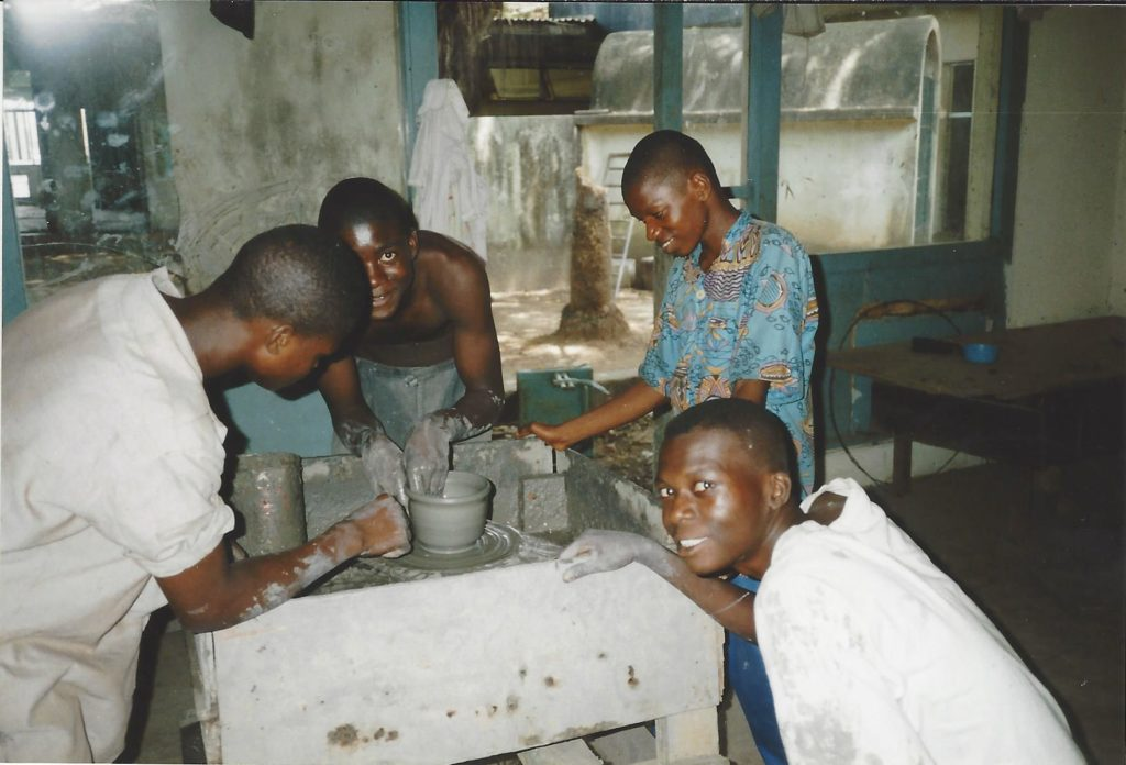 Pottery class for teenagers affected by the war