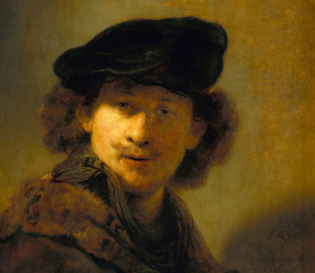 Rembrandt: Self-Portrait with Velvet Beret, 1634 (Gemäldegalerie Berlin)