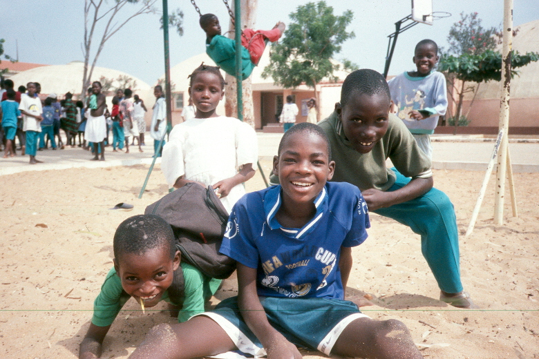 Former street children at a centre in Luanda