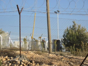 Israeli settlement behind Rabah's house