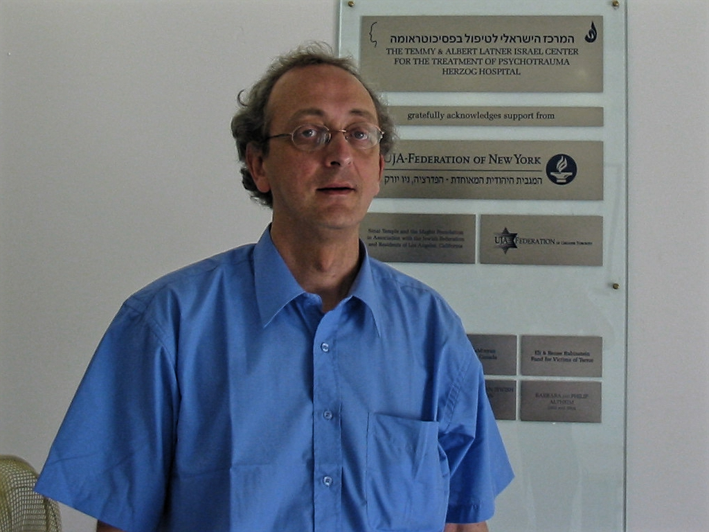 Dr. Danny Brom. director of the Israel Center for the Treatment of Psychotrauma of Herzog Hospital in Jerusalem