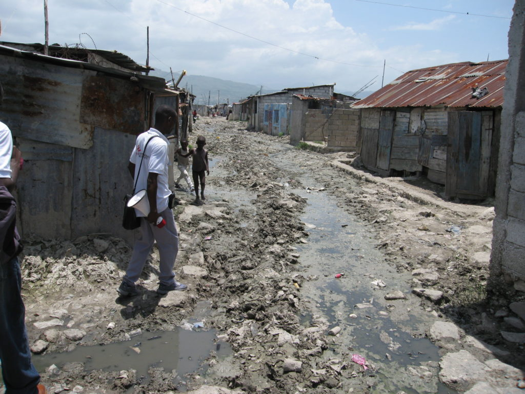 Slum in the Haitian capital, Port-au-Prince