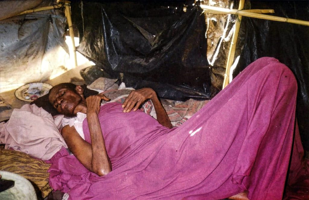 Mrs. Somoyo in the squatter camp where she had been living for the past two years ( † September 27, 1999)