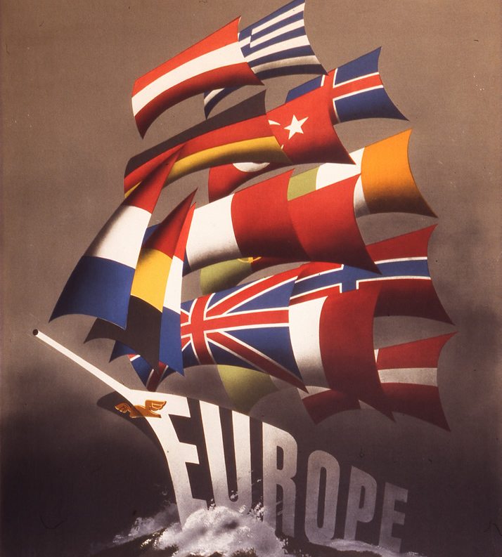 """""""All Our Colours to the Mast"""" (Award-winning Marshall Plan poster by Reijn Dirksen)"""