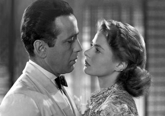 Humphrey Bogart and Ingred Bergan in Casablanca, 1942