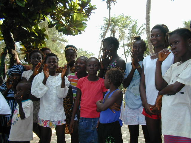 Counselling therapy for child war rape victims at Godrich Beach in Freetown